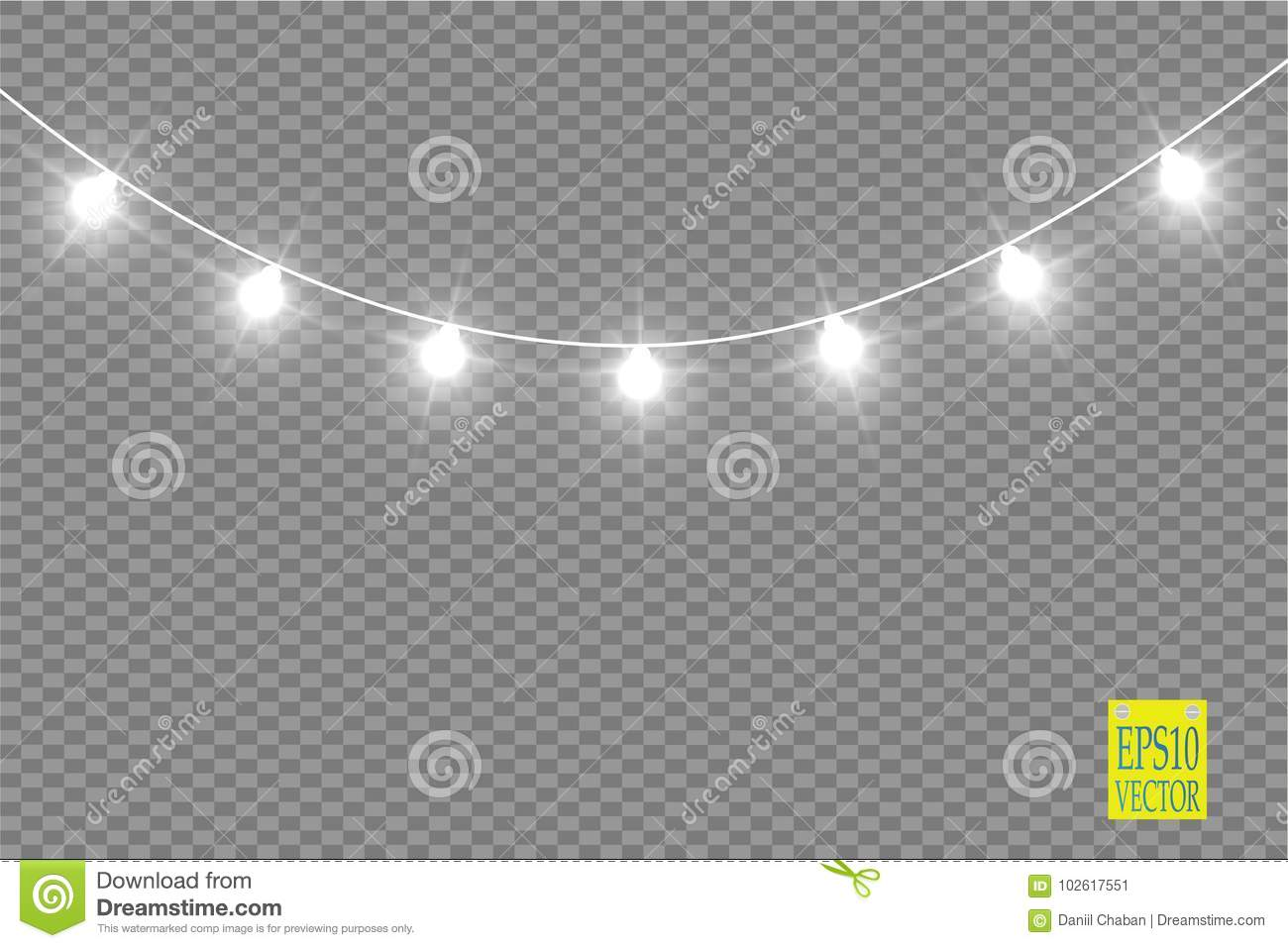 Christmas Fairy Lights Transparent.Christmas Lights On Transparent Background Xmas Glowing
