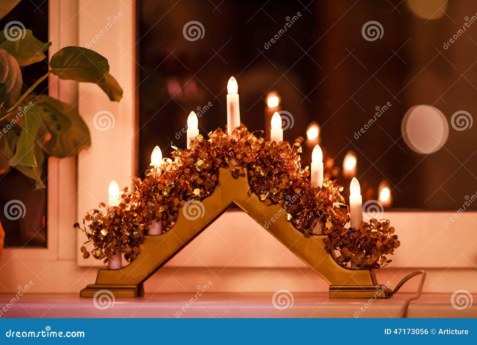 Christmas lights stock photo image 47173056 - Christmas window sill lights ...