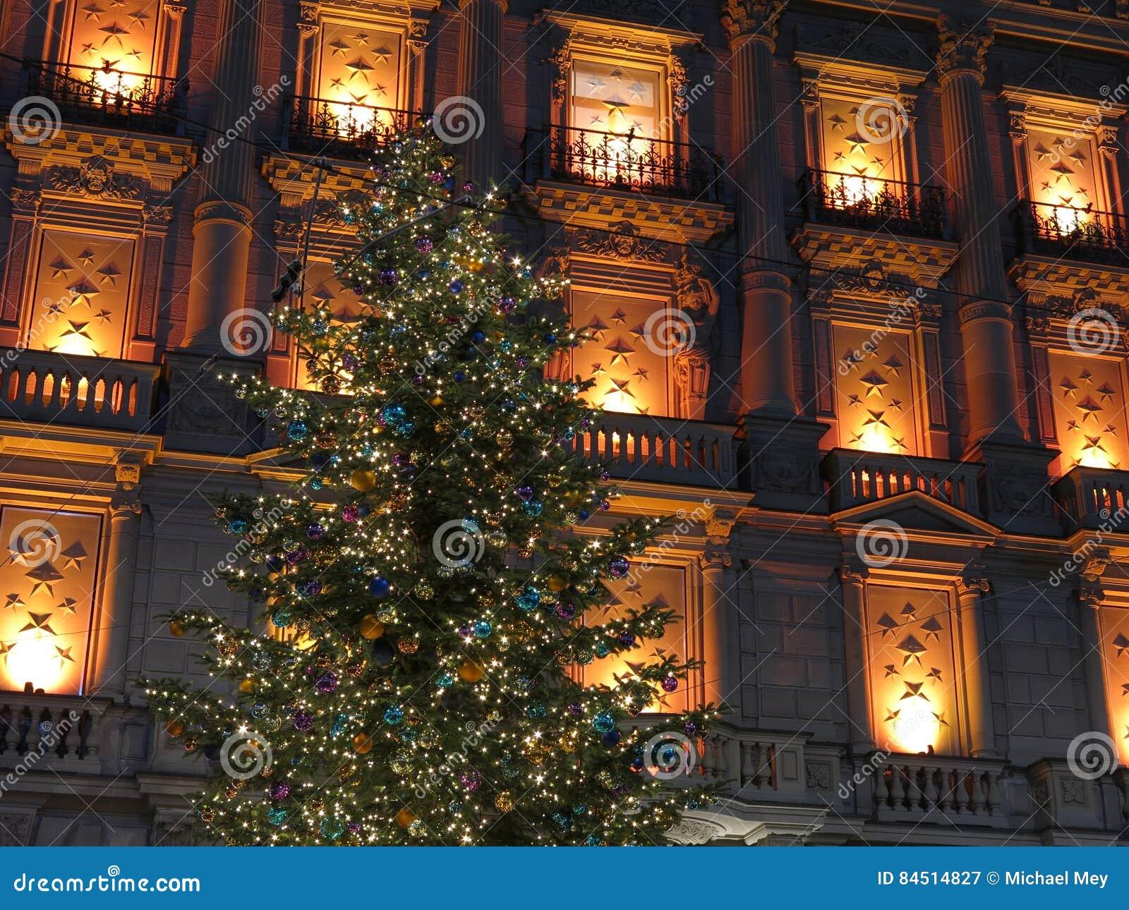 christmas lights and windows