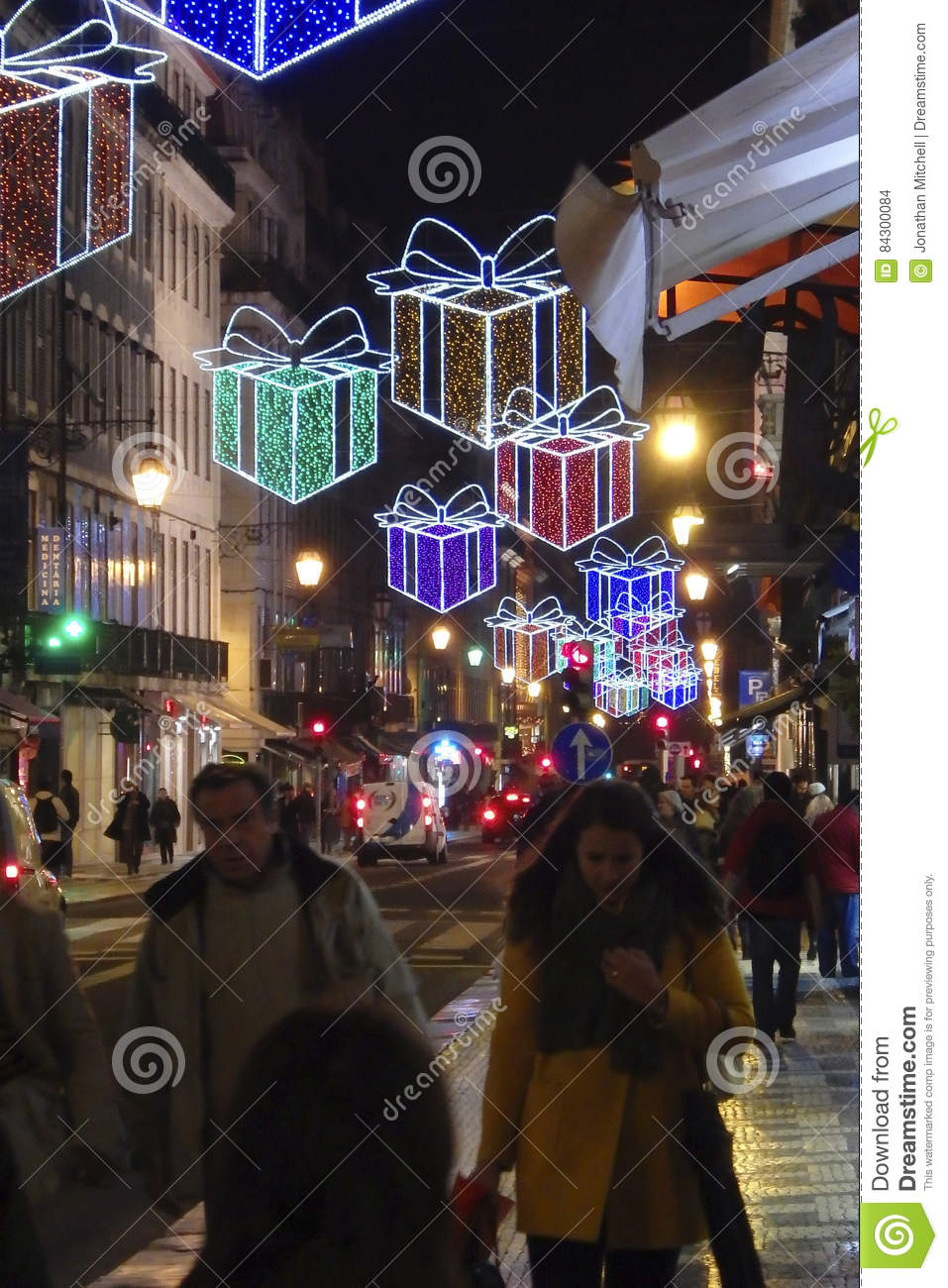 Weihnachtsessen Portugal.Christmas In Lisbon Portugal Editorial Stock Image Image Of Light