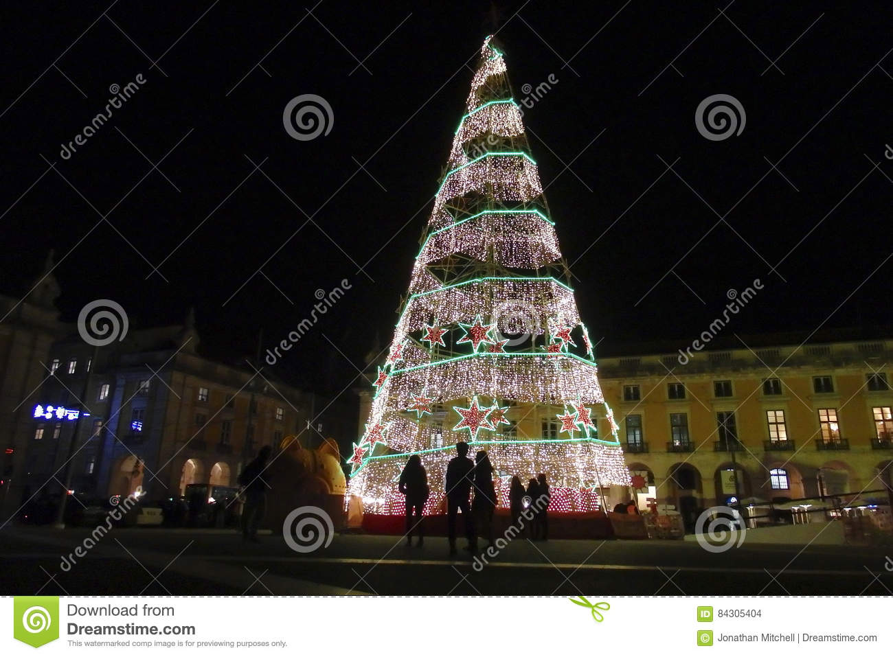 portugal lisbon 16 dec 2014 christmas decoration lights in the praca do commercio in baixa lisbon portugal picture by jonathan mitchellatlas photo - Christmas In Portugal
