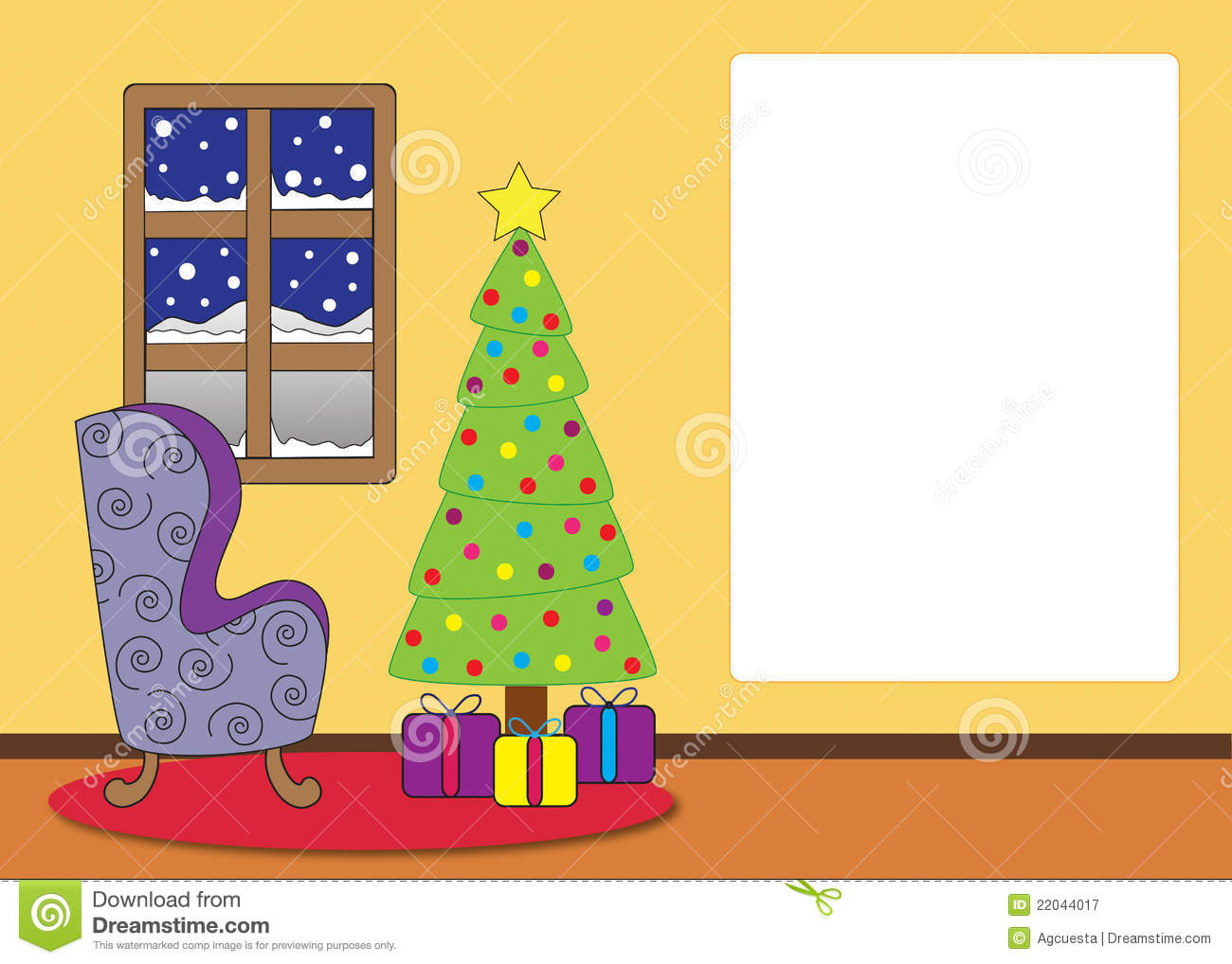 Christmas Tree Living Room Background