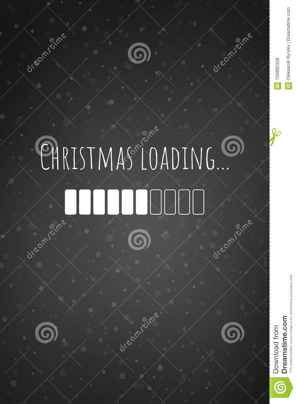 Christmas Loading Bar Card Or Iphone Wallpaper