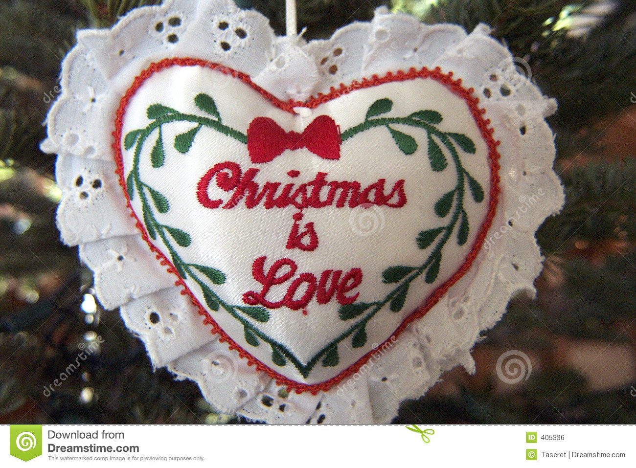 Christmas is Love stock photo. Image of ornament, heart - 405336