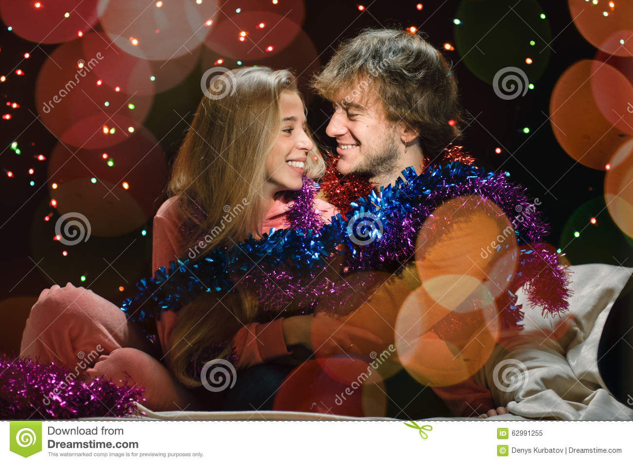 Christmas Love Couple Stock Image Image Of Christmas 62991255