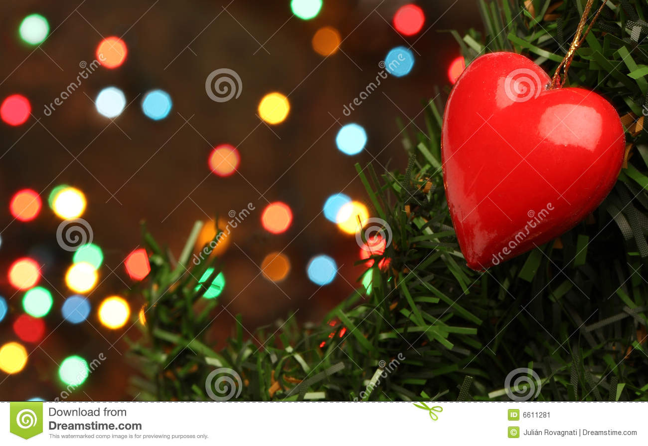 Christmas love heart stock image of electric