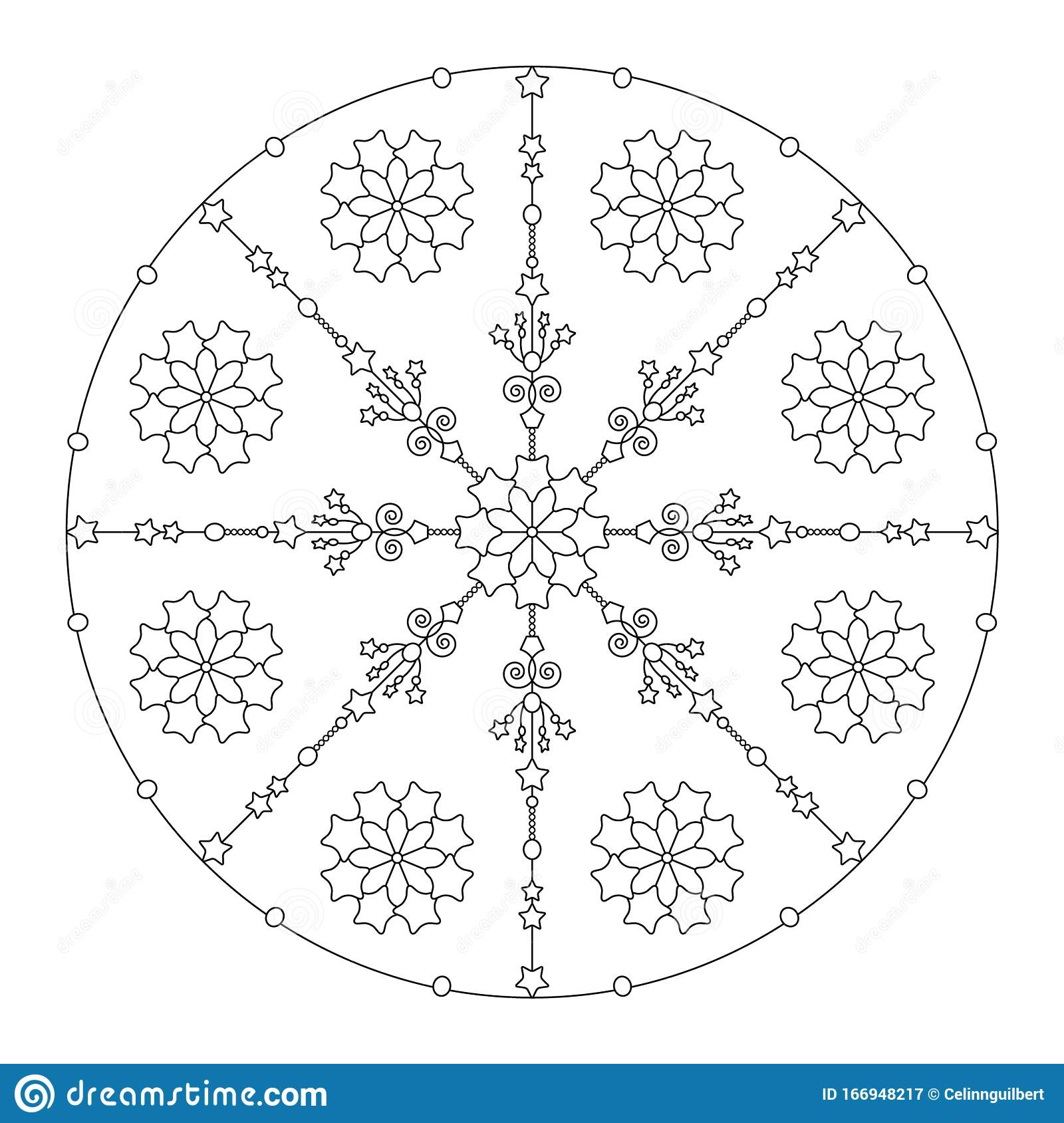 Free Free Christmas Mandala Coloring Pages, Download Free Clip Art ... | 1689x1600