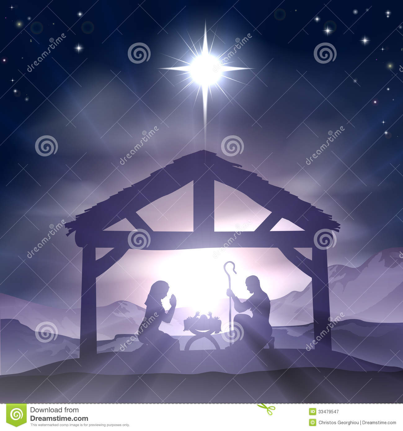 Christmas Nativity Jesus Birth Stock Images - Image: 19534324