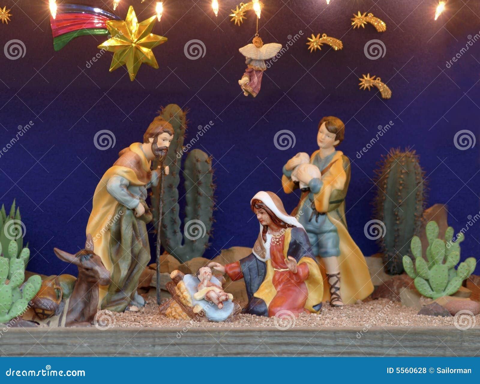 A Christmas Manger Scene Stock Photo Image Of Nativity