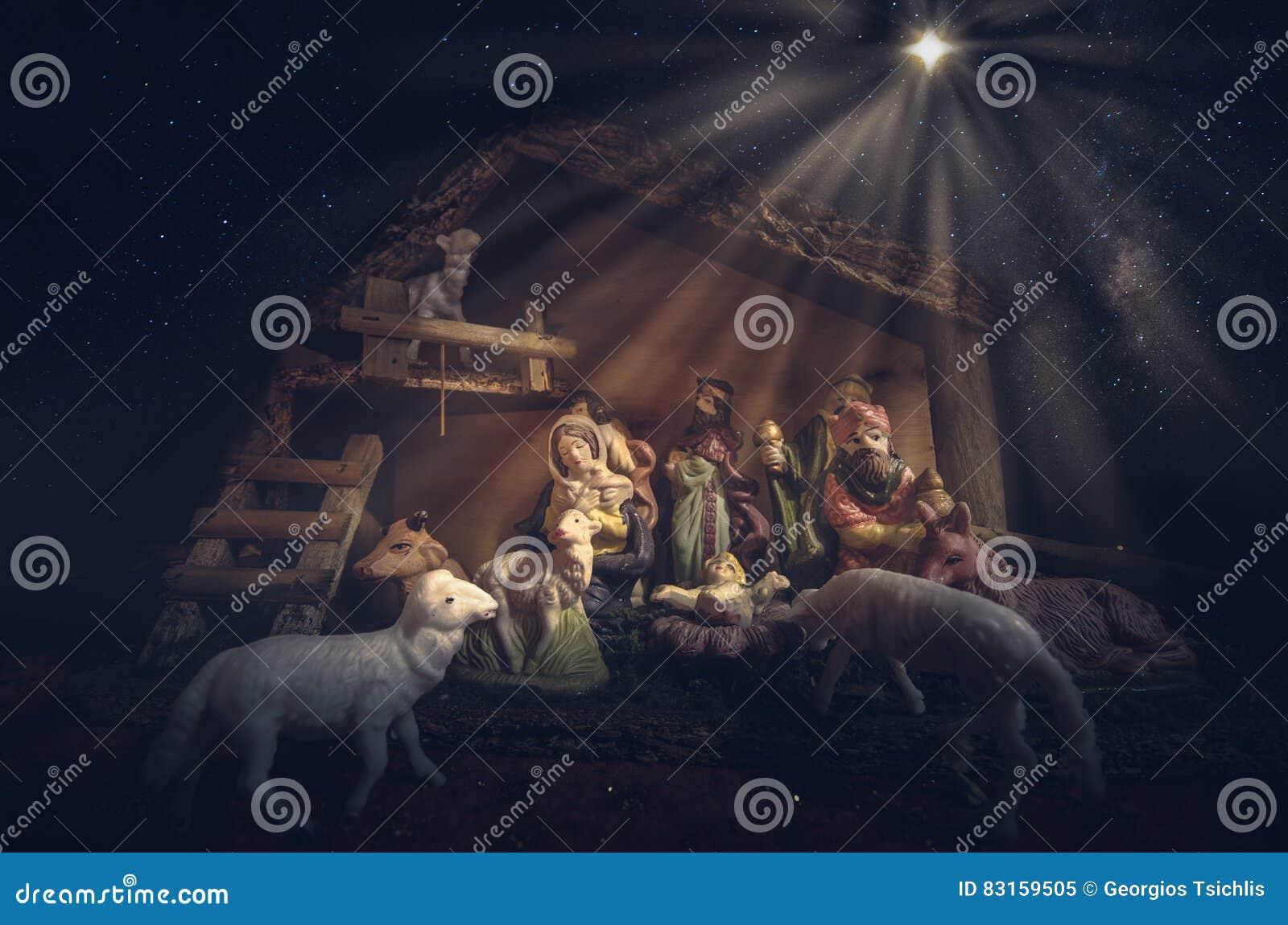 download christmas manger scene stock image image of child celestial 83159505