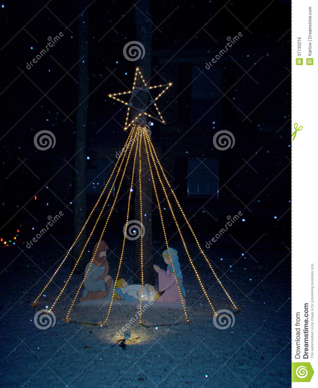 Christmas manger with star g stock photo image