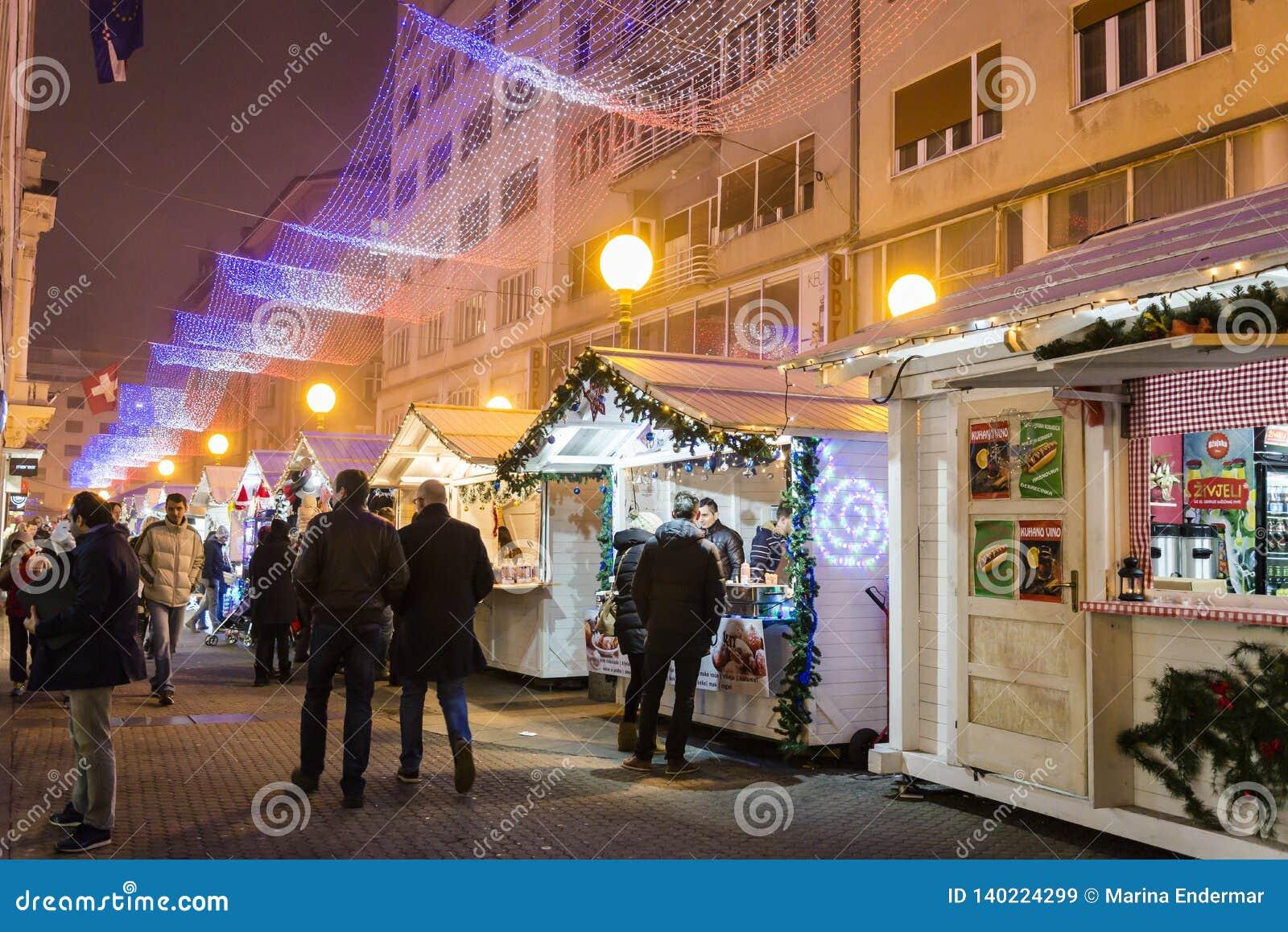 Christmas market, Advent in Zagreb, Croatia