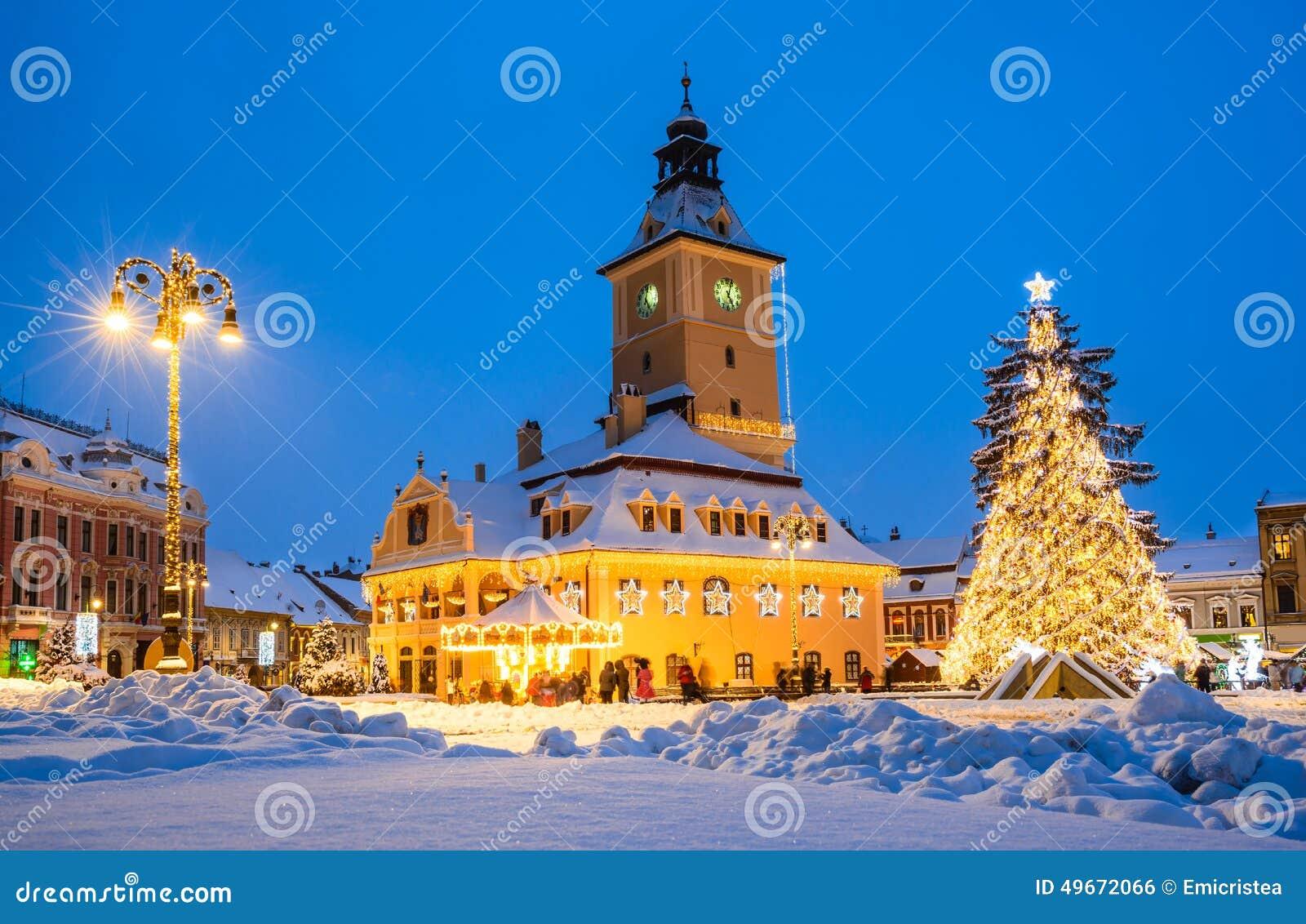Christmas Market, Brasov, Romania Stock Photo - Image: 49672066
