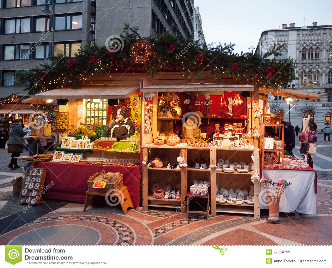 Christmas Market In Budapest Editorial Stock Image Image