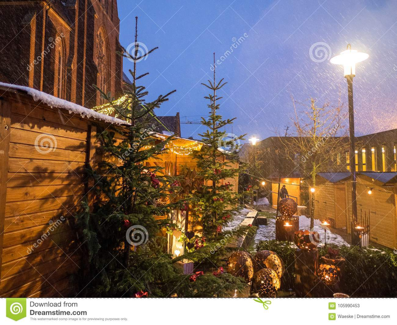 Christmas Town In Germany.Christmas Market In Germany Stock Image Image Of Christmas
