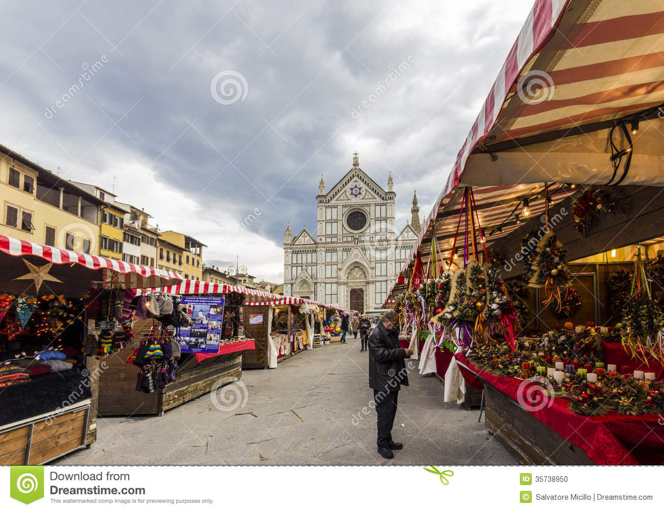 Historical Stock Prices >> Christmas Market In Florence Editorial Image - Image: 35738950
