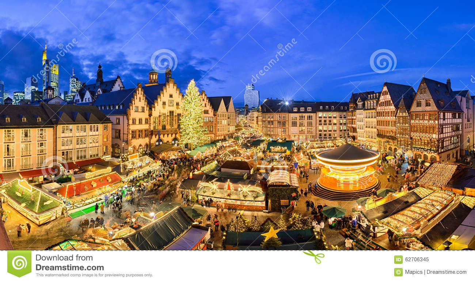 Weihnachtsmarkt Frankfurt Main.Christmas Market In Frankfurt Germany Stock Image Image Of