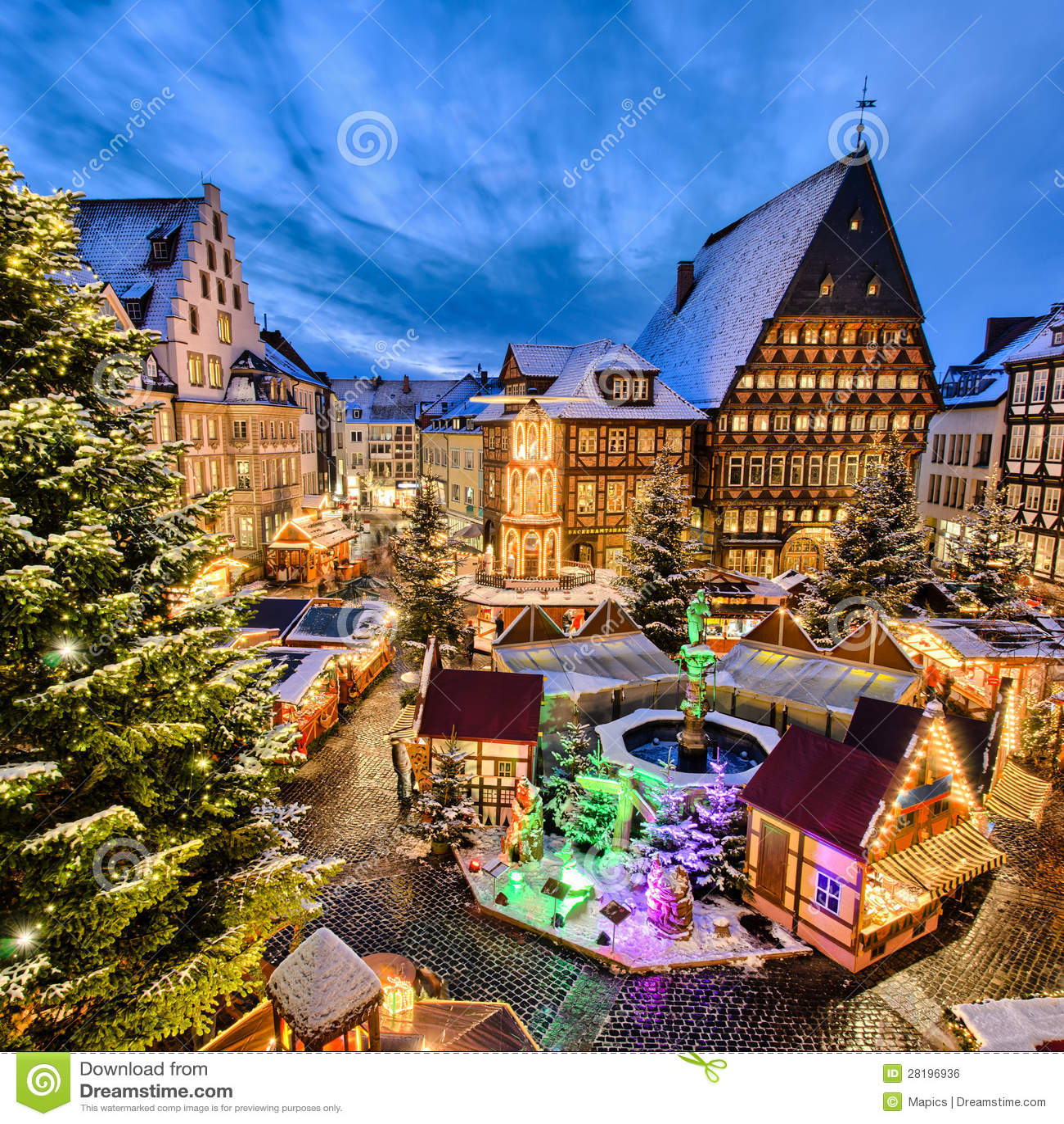 Christmas Market In Hildesheim Germany Royalty Free Stock