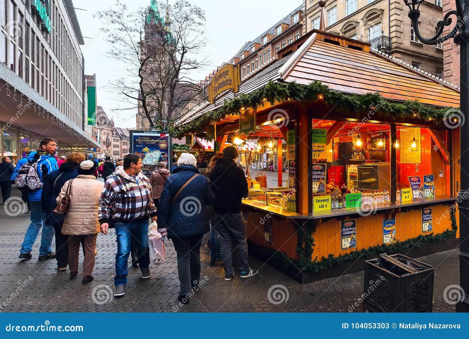 Christmas Market In Nuremberg, Bavaria Editorial Stock Photo - Image ...