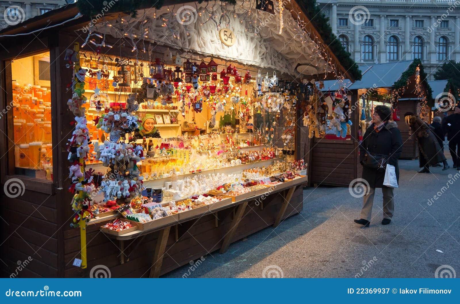 Christmas Market In Vienna Austria Editorial Photography