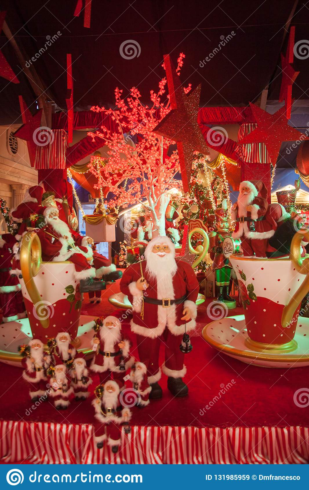 Christmas In Italy Decorations.Christmas Markets Christmas Decorations Italy Stock Image