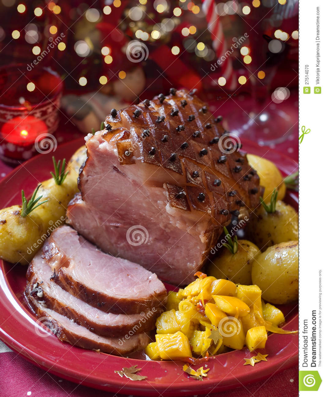 Christmas Meat.Christmas Meat Stock Photo Image Of Potato Baked Cuisine