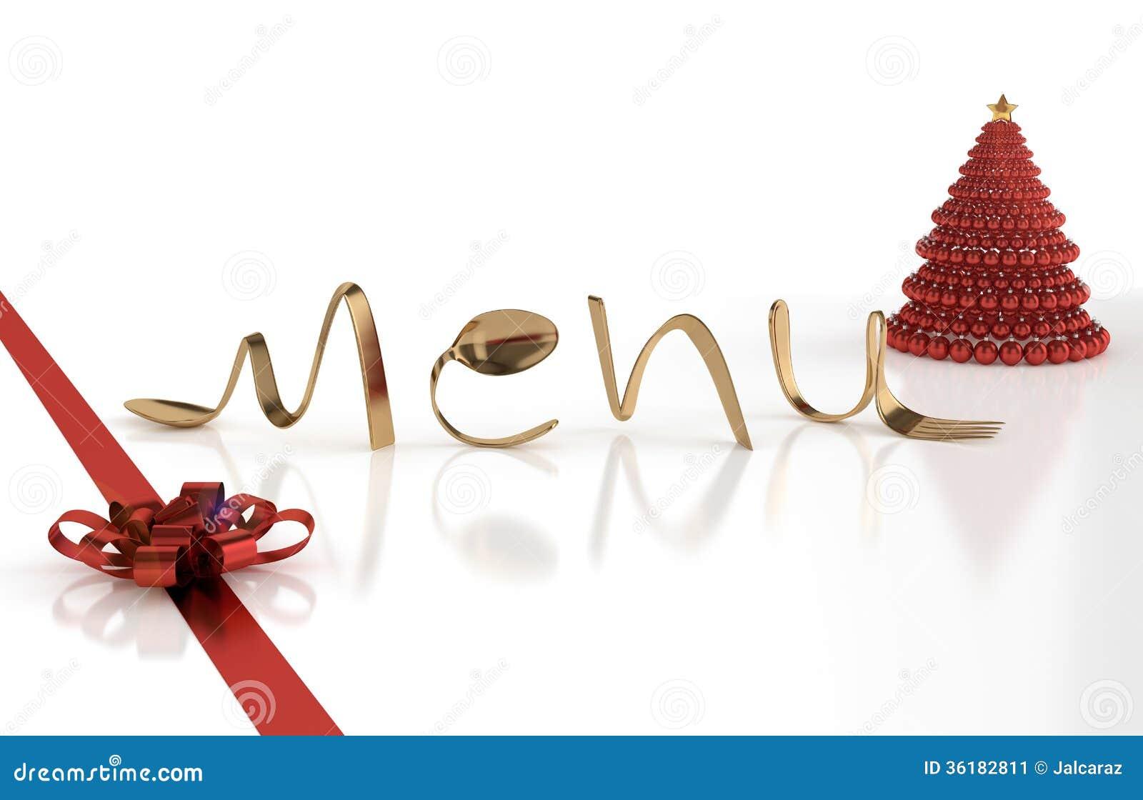 Decoration De Menu De Noel.Christmas Menu Stock Illustration Illustration Of