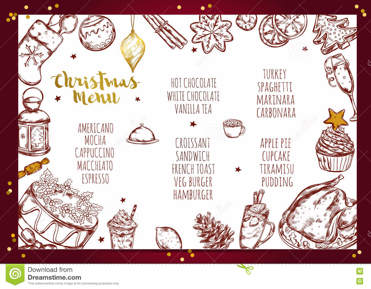 Christmas Menu Brochure Design