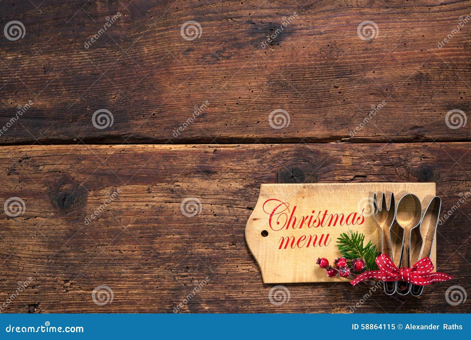 Christmas Menu Stock Photo Image 58864115