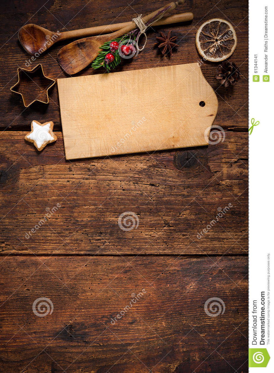 Christmas Menu Card Stock Photo Image 61344141