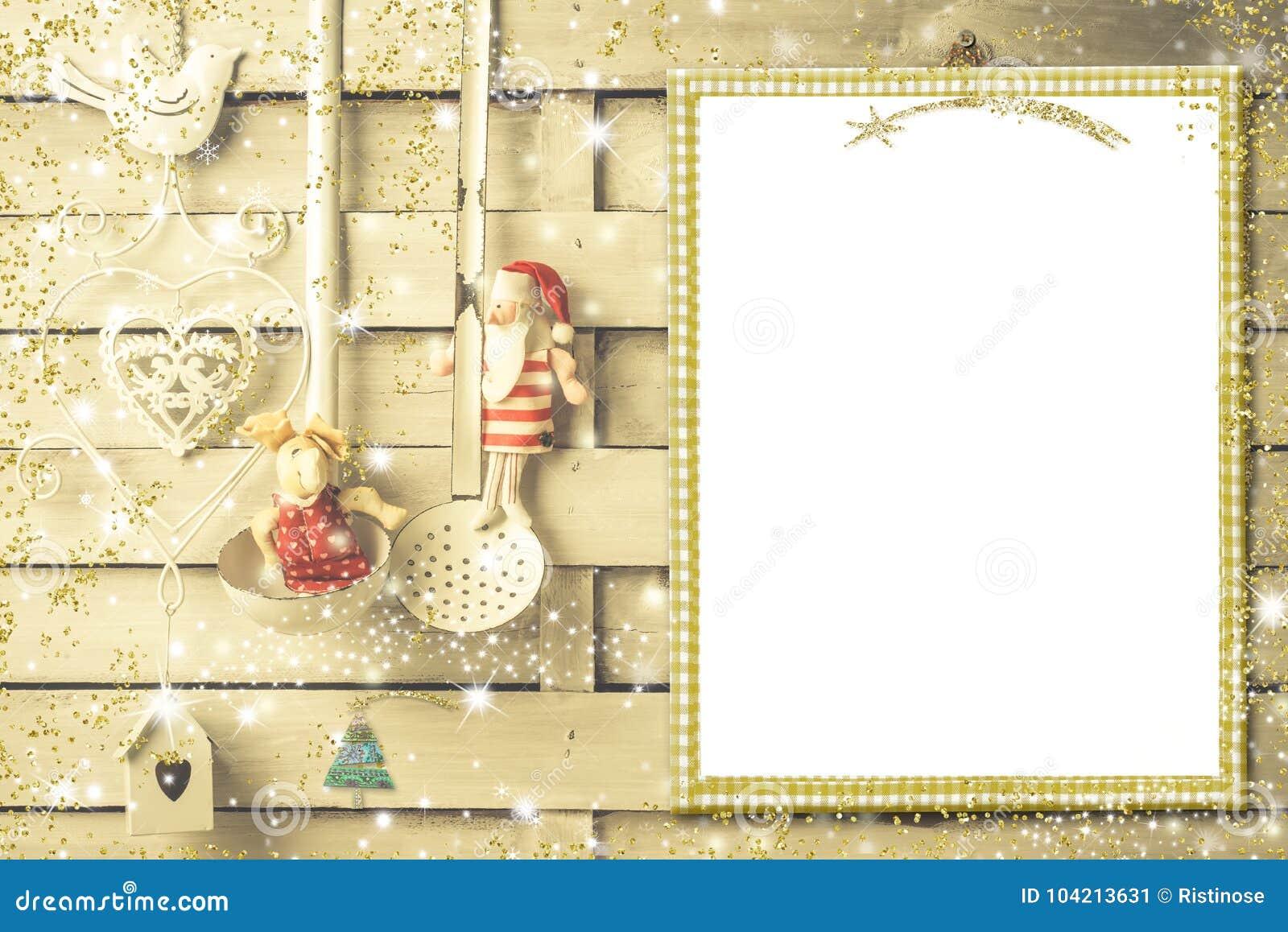 Christmas Menu Or Greeting Card Stock Image Image Of Christmas