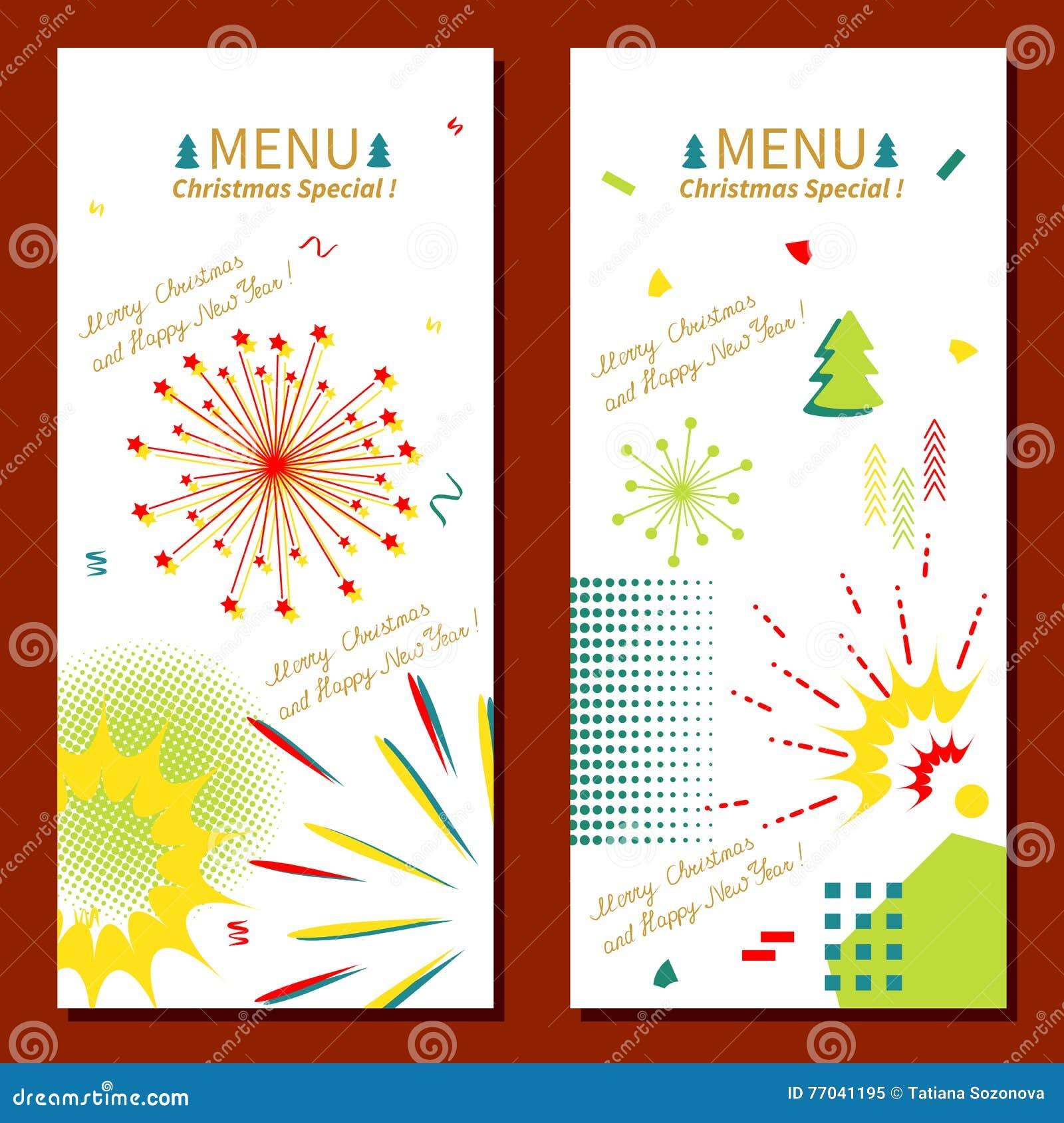 christmas menu memphis style - Simple Christmas Menu
