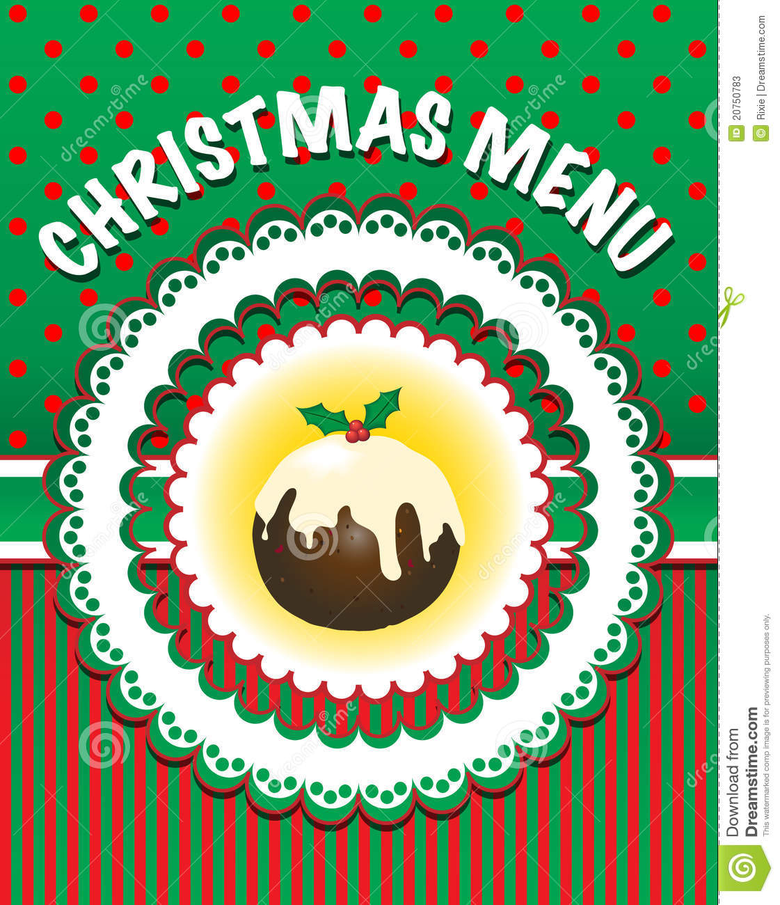 christmas menu template stock photos image  christmas menu template