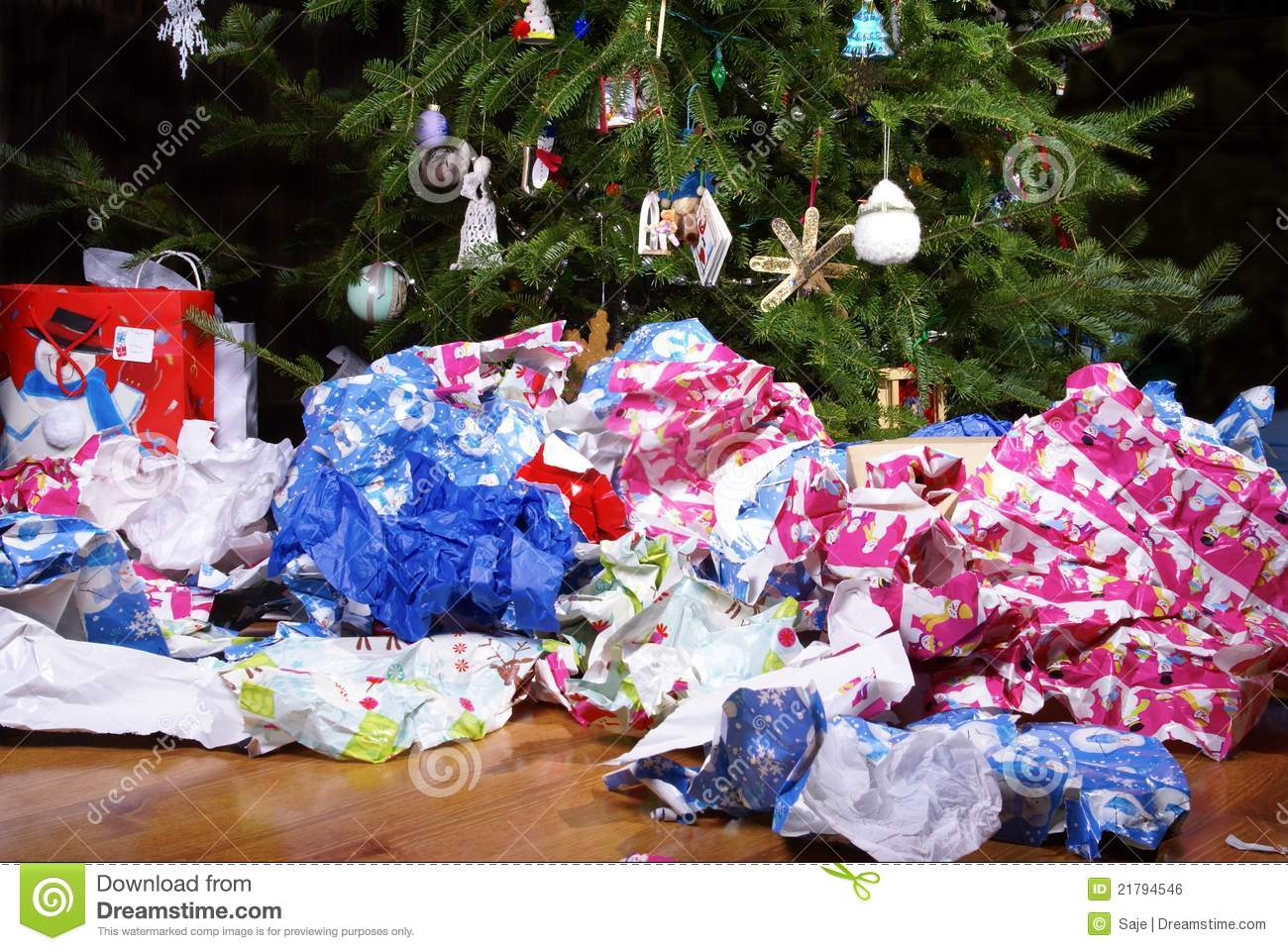After Christmas Mess Landscape Stock Photo Image of