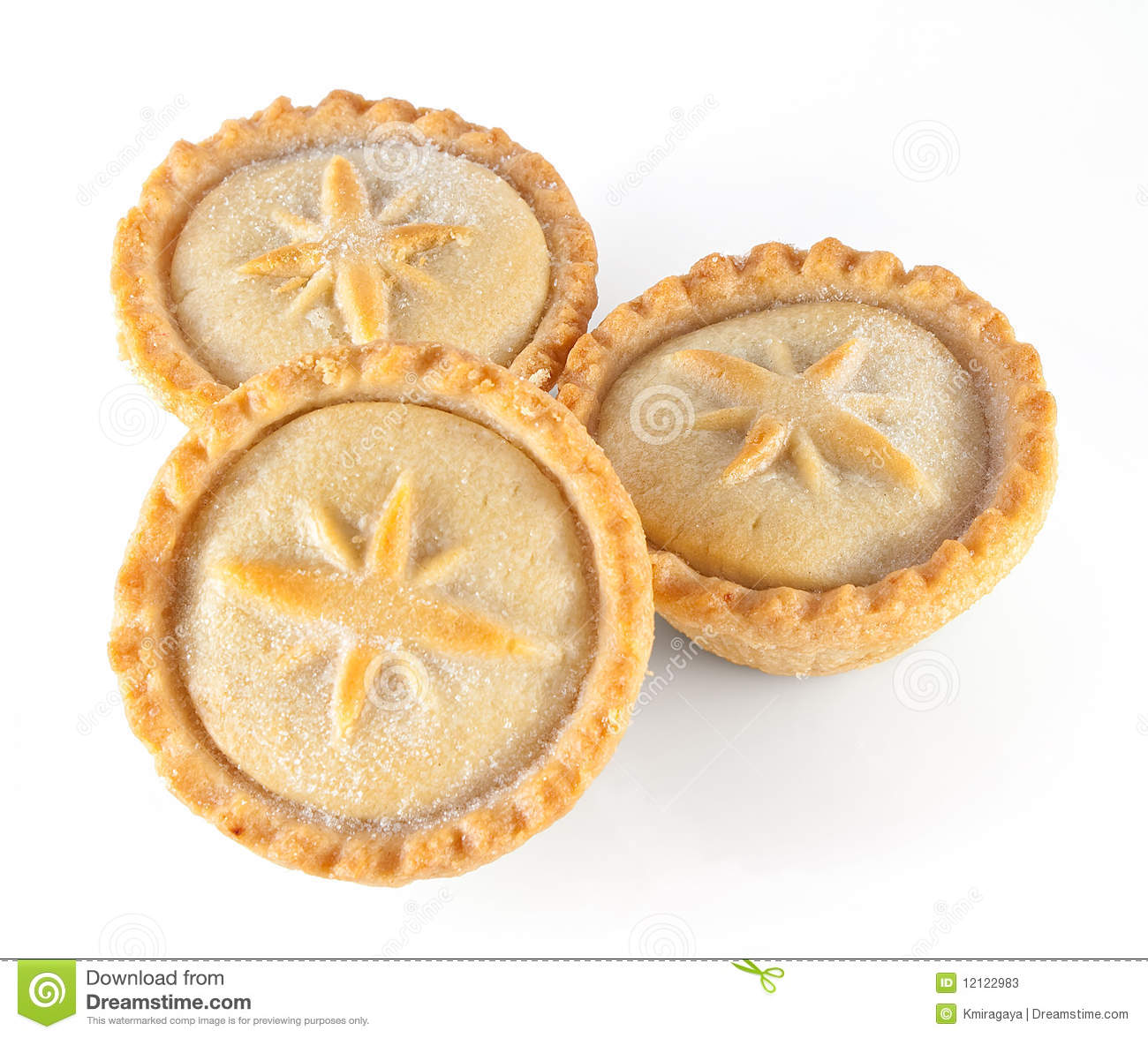 Christmas Mince Pies On A White Background Stock Photos - Image ...
