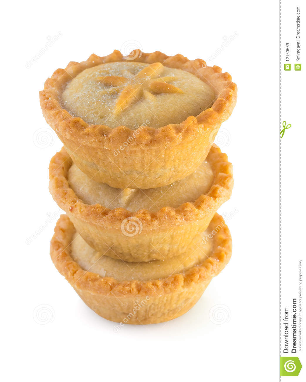 Christmas Mince Pies On A White Background Royalty Free Stock Images ...