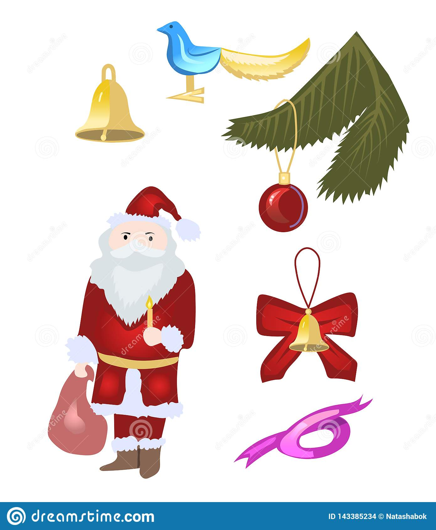 Christmas mini set vector