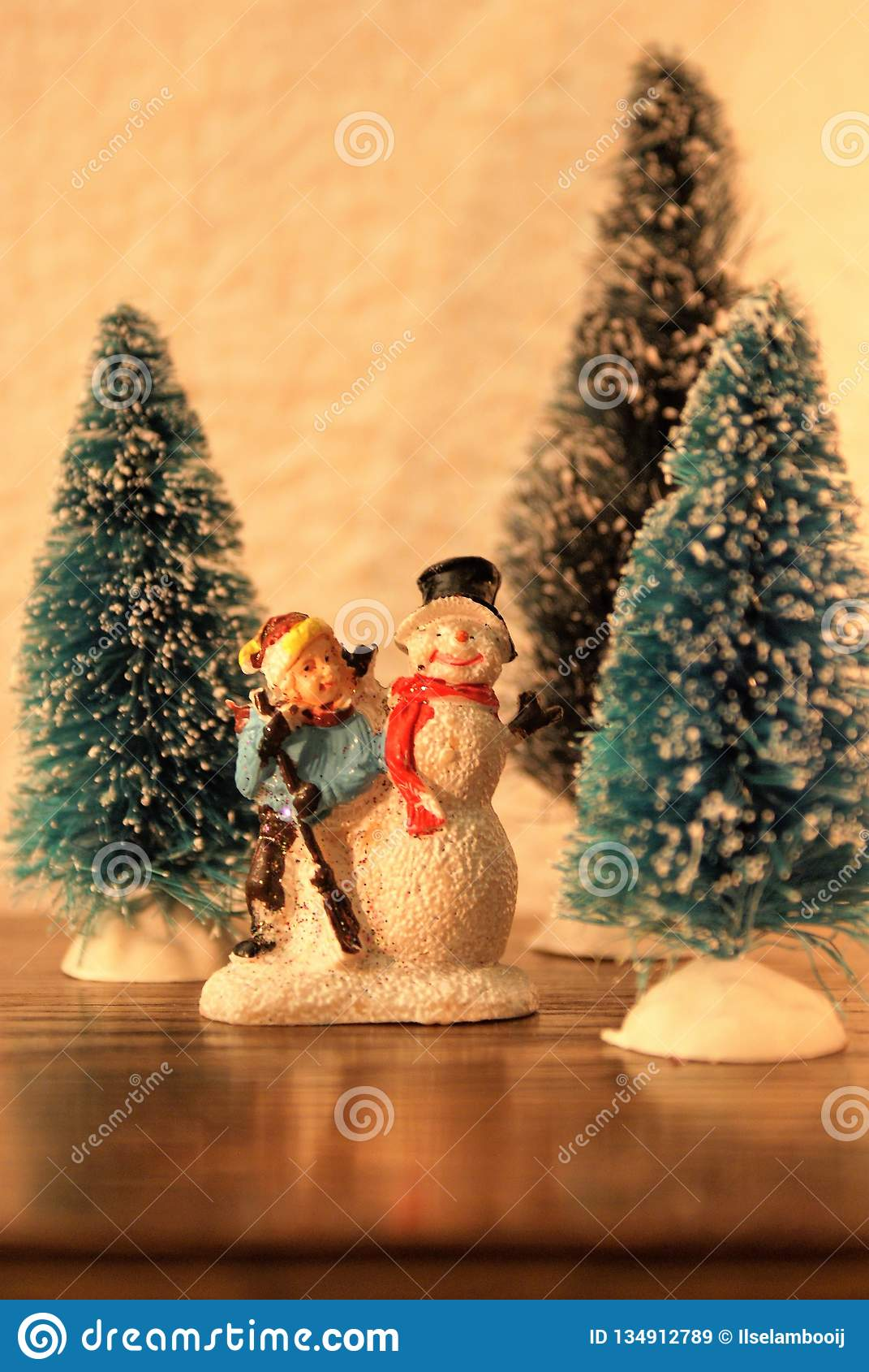 Christmas Miniatures.Christmas Miniatures Close Up Stock Image Image Of Season