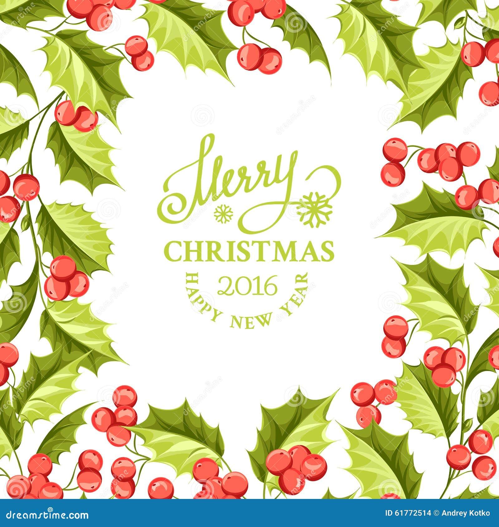 Christmas mistletoe holiday card with text stock vector christmas mistletoe holiday card with text buycottarizona Image collections