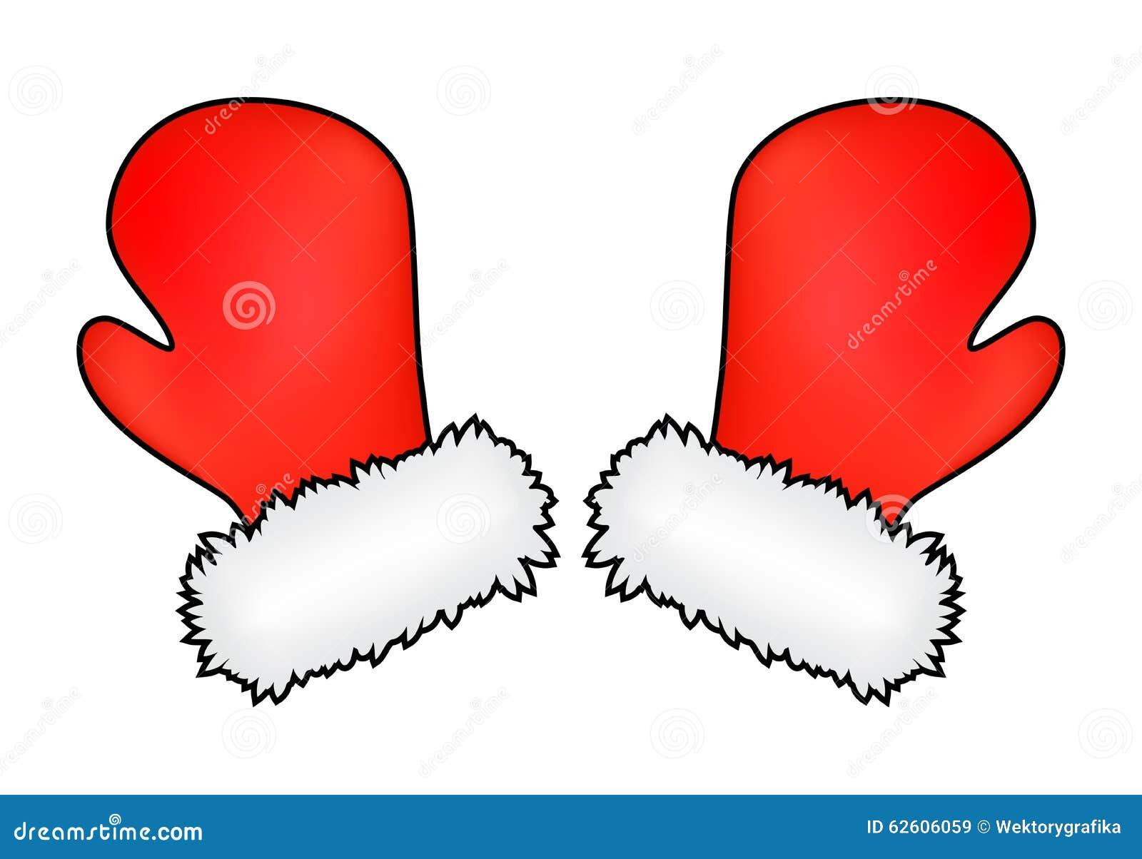 Christmas mittens, cartoon gloves design, icon, symbol. Winter vector ...