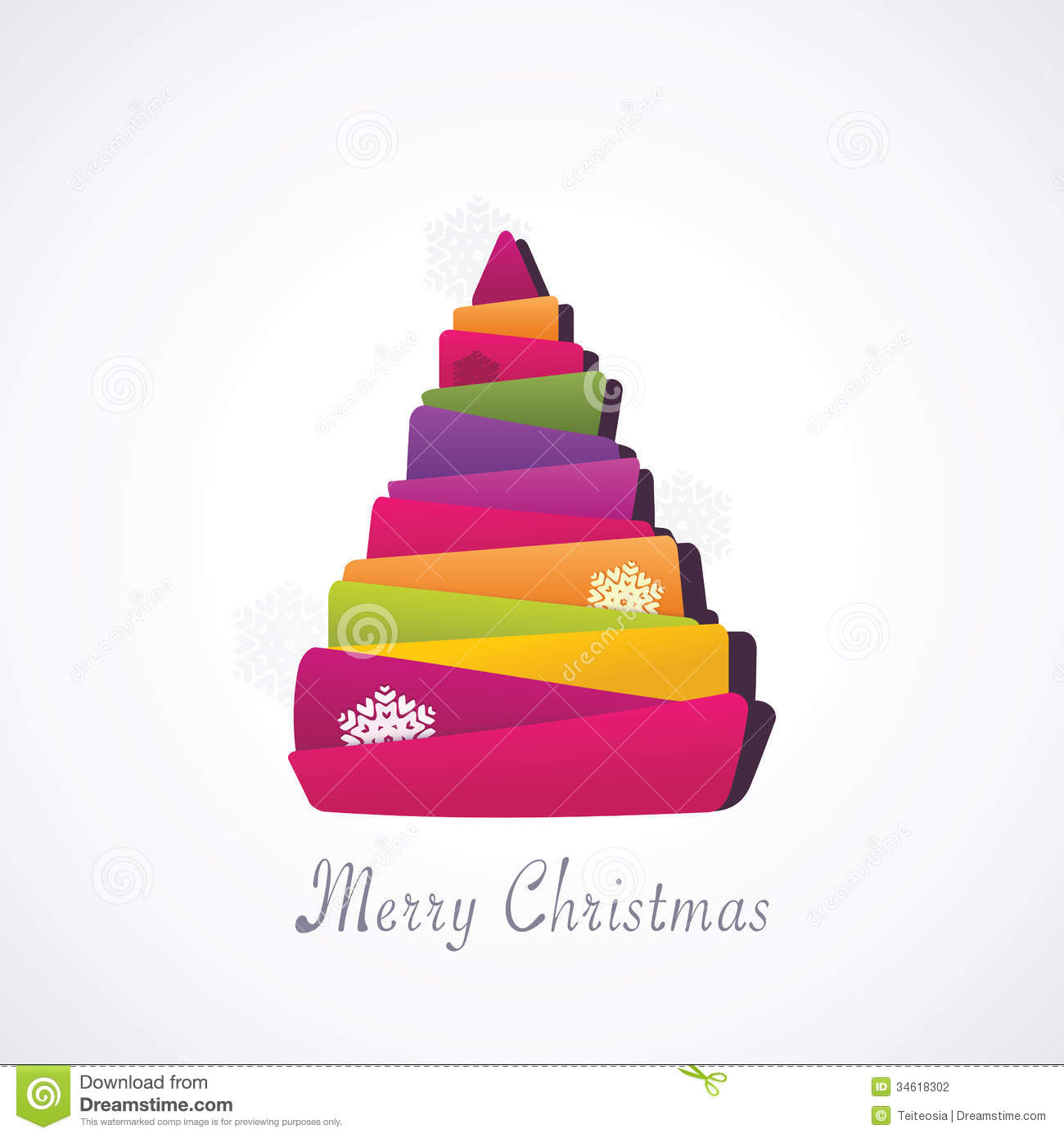 Christmas Modern christmas modern tree stock photography - image: 34618302