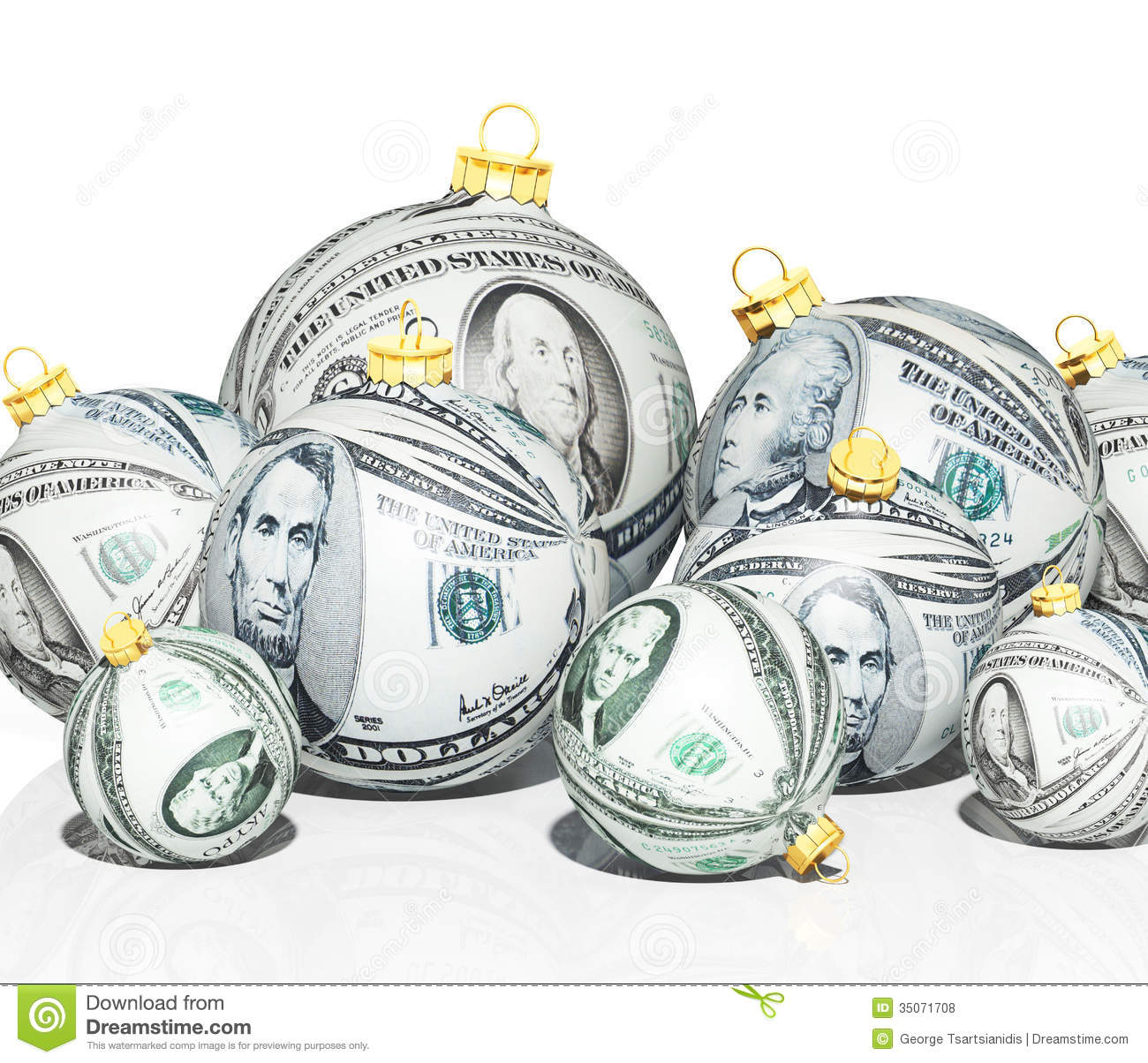 download christmas money stock illustration illustration of commerce 35071708