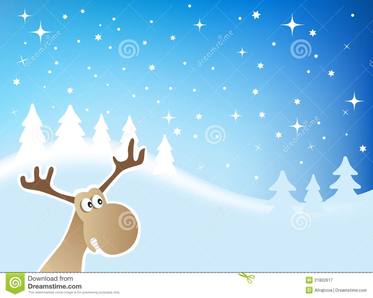 Christmas Moose Royalty Free Stock Photography Image