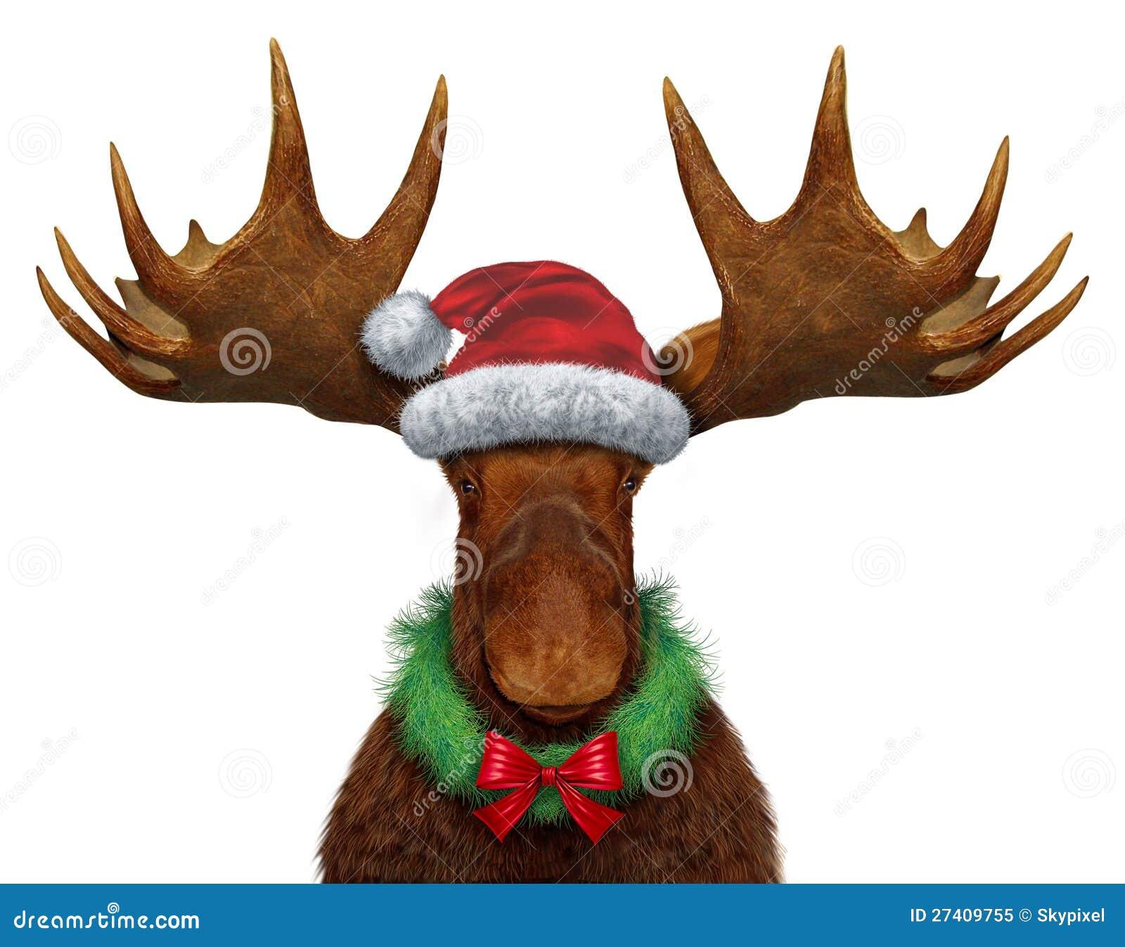 Christmas Moose Royalty Free Stock Photo - Image: 27409755