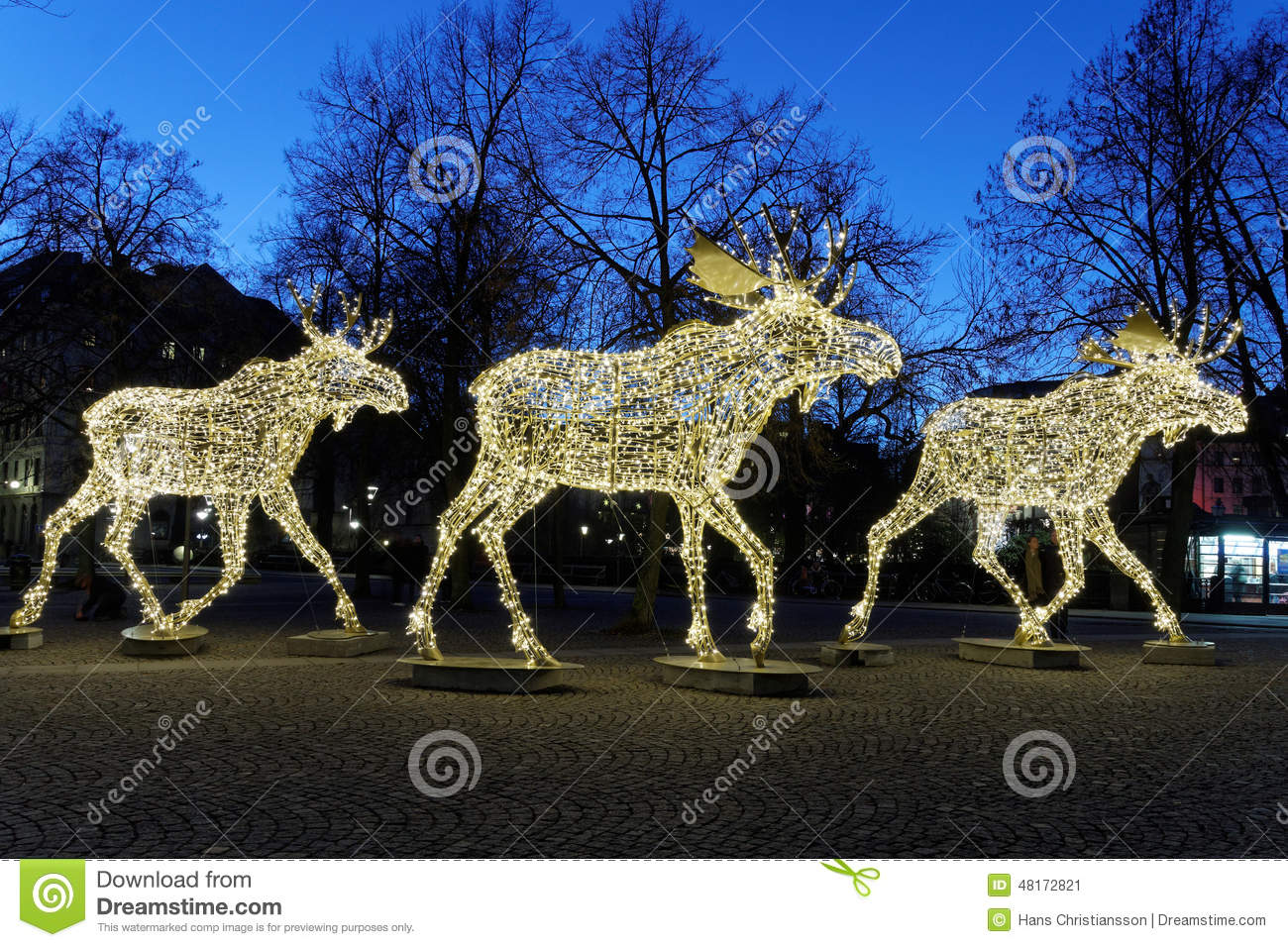 download christmas moose floc made of led light stock image image of deer silhouette
