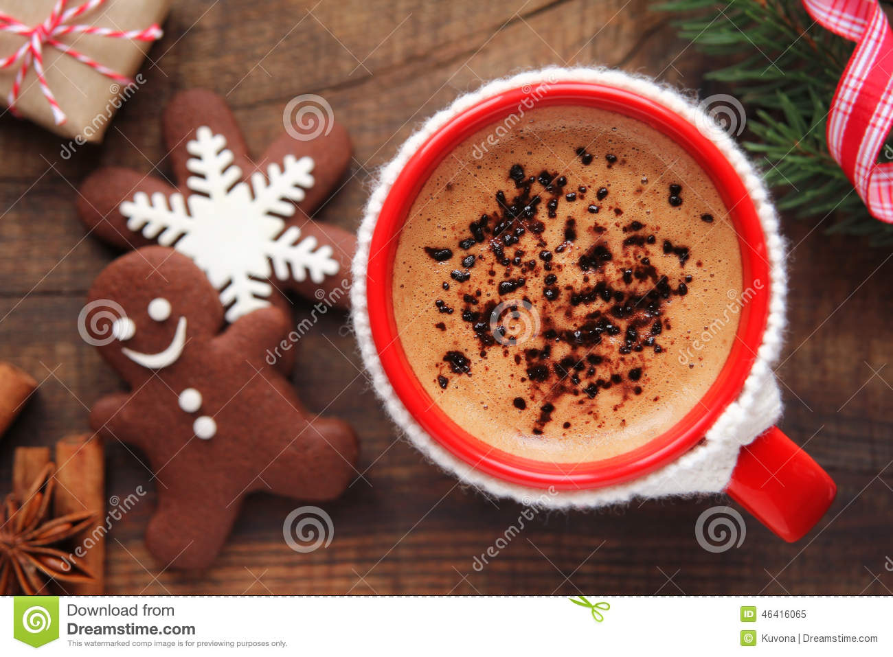Coffee Christmas Morning.Christmas Morning Coffee And Cookies Stock Image Image Of