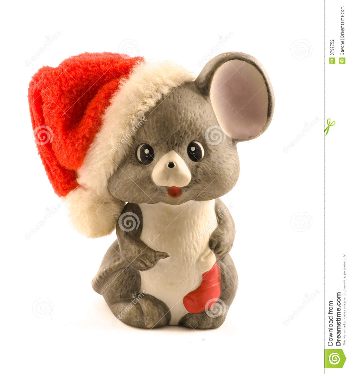 Christmas Mouse Stock Photography - Image: 3737752