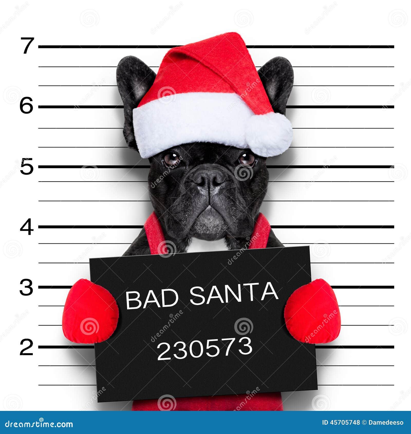 Christmas mugshot