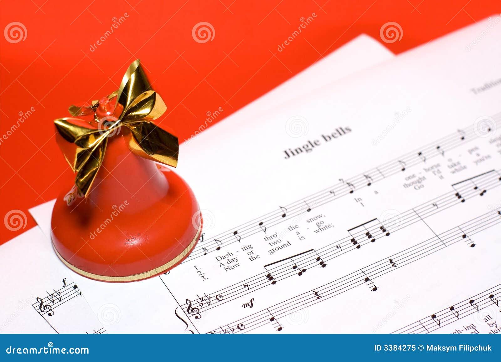 Christmas Music Background Royalty Free Stock Photo - Image: 3384275
