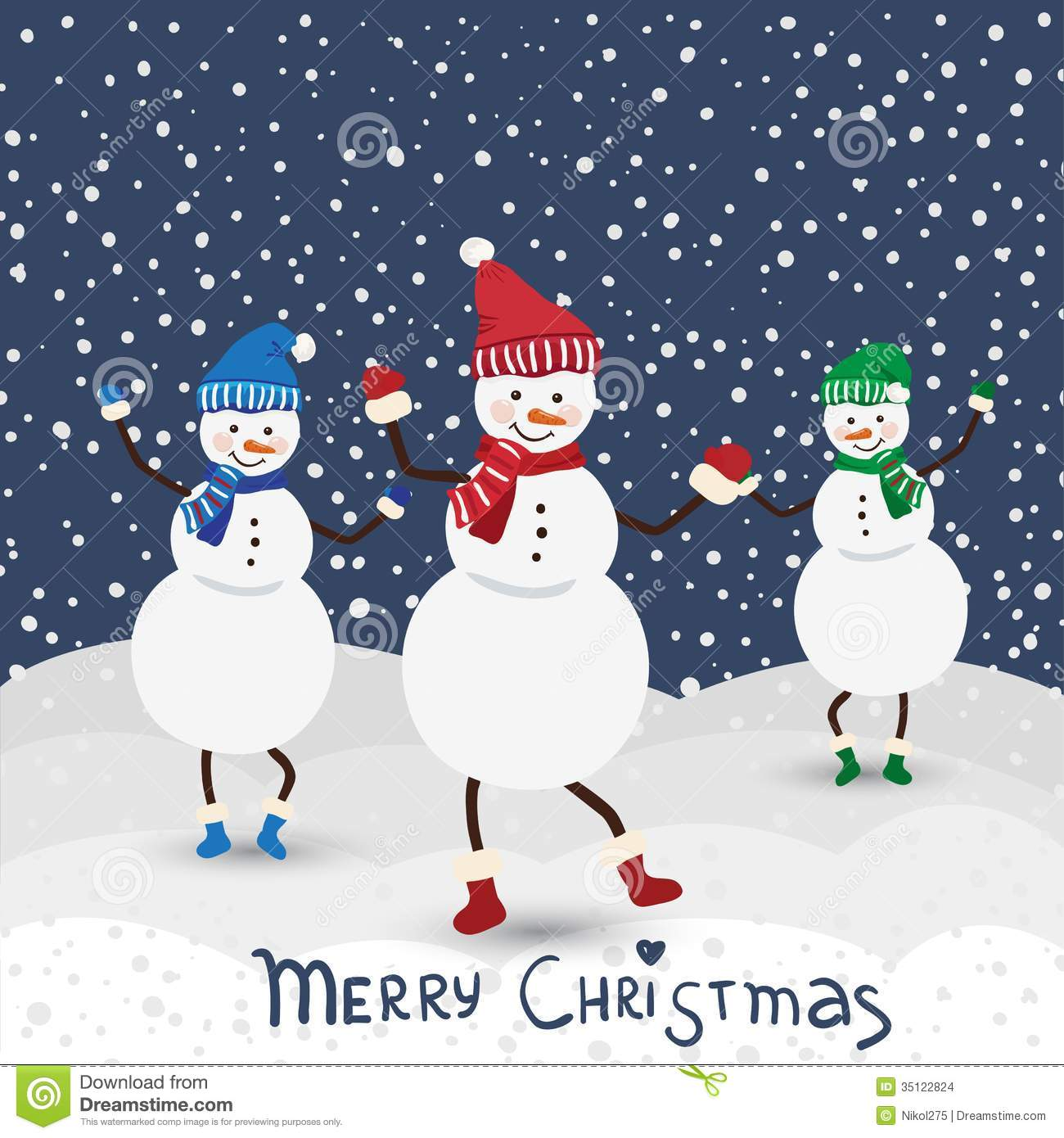 christmas music card with dance snowman - Christmas Music Download
